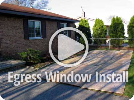 Egress Window INSTALL - ANTO GLASSBLOCK MICHIGAN