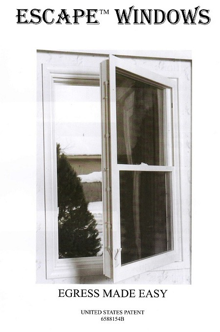 Egress code for bedroom windows for Bedroom window egress requirements